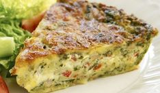 This delicious savoury pie is extremely easy to make -simply mix all ingredients together and bake. It& great enjoyed fresh out of the oven with a side salad, or cut up and chilled for school or work lunches. Bisquick Recipes, Quiche Recipes, Egg Recipes, Light Recipes, Dinner Recipes, Cooking Recipes, Sandwich Recipes, Vegetable Dishes, Gourmet
