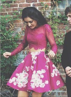 Cheap homecoming dresses crop top Two Pieces Homecoming Dresses, Homecoming Dress,2 Pieces Prom Gown,Two Piece Cocktail Dresses,Sweet 16 Gowns
