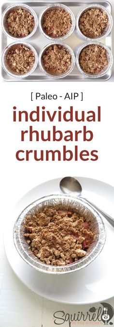 Batch cook individual rhubarb crumbles and freeze them for later (or not). It is a little bit of work now for sure, but all fun later!