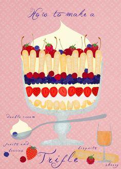 Digitaldruck - How to make a trifle-limited edition Art print - ein Designerstück von Elisandra bei DaWanda