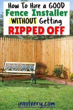 Fence Contractors How To Hire a Local Fence Installer Advice From a Fellow Homeowner Diy Fence, Backyard Fences, Fenced In Yard, Fence Ideas, Fence Installation Cost, Home Fencing, Types Of Fences, Fence Stain, Lokal