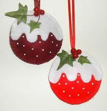 felt tree decorations - Google Search