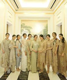All wearing the incredible collection of ✨ Kebaya Lace, Kebaya Brokat, Kebaya Dress, Bridesmaids, Bridesmaid Dresses, Wedding Dresses, Abaya Fashion, Fashion Dresses, Model Kebaya