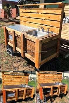 Kids like to play with the things that are unique, so you can create a shipping pallet mud kitchen for them if you have daughters and you don't want them to send outside the home for playing. This idea will not take much time in completion.