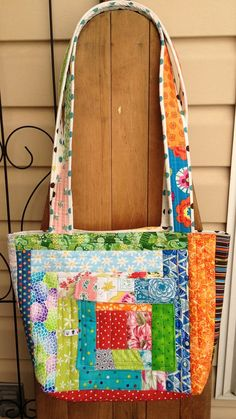 Large Tote Bag for Women Handmade OOAK purse by QuiltedCupcake, $55.00
