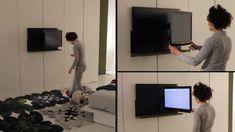 Armadio Dream con porta tv Ghost estraibile ed orientabile - Letto Pliss...