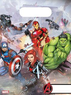 Avengers Pack Of 6 Party Loot Bags Marvel Disney Iron Man Hulk Black Widow Die Avengers, Marvel Avengers Comics, Hulk Avengers, Avenger Party, Thor, Disney Marvel, Infinity War, Captain America, Iron Man