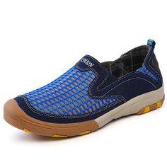 #AdoreWe NewChic Footware - NewChic - Men Outdoor Lycra Mesh Fabric Breathable Non-slip Casual Shoes - AdoreWe.com