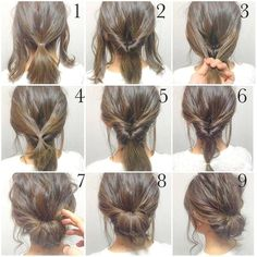 √ Easy Up Hairstyles for Short Hair . 25 Easy Up Hairstyles for Short Hair . Quick Little Girl Hairstyles New Cool Hairstyles for Short Hair Girl Short Hair Styles Easy, Medium Hair Styles, Curly Hair Styles, Natural Hair Styles, Hair Medium, Bun Styles, Up Dos For Medium Hair, Hair Tutorials For Medium Hair, Hair Styles Steps