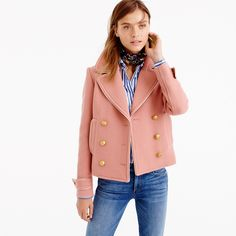 Fall outfit goals right here!!!! Double-breasted coat in double-cloth wool from J.Crew.
