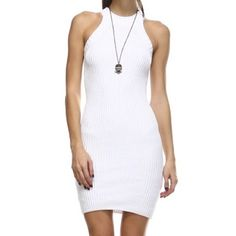 HOST PICK 5/8 Tea n Cup Fitted Knit Dress HOST PICK STYLE STAPLES 5/8  •Fitted knit dress in white •60% cotton/ 40% acrylic  •small/medium & medium/large •Is form fitting, but also has some stretch.           •Super comfy.   No trades.  OFFERS WELCOME Tea n Cup Dresses Mini