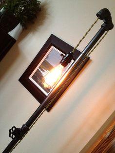 Industrial Floor Lamp  Edison Bulb  Steampunk by newwineoldbottles, $135.00