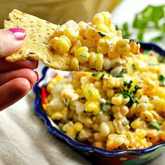 This simple 15 minute Chili Lime Mexican Corn Salad is versatile enough to be used as both an appetizer or side dish. Summer cookout favorite!