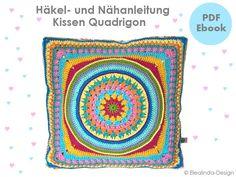 Häkelanleitung Quadrigon Häkelkissen made by Elealinda-Design via DaWanda.com