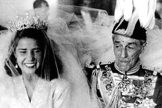 Cayetena de Alba, later Duchess of Alba, with her father
