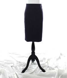 Navy, 1950s inspired, modern vintage pencil skirt from Theadora Vintage. Shop www.theadoravintage.com