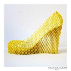 "CORDWAINER EXTRAORDINAIRE - 12 shoe poems by Sebastian Errazuriz dec. 2013 - number 1 ""Honey"" - 12 shoes for 12 lovers"