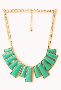 Faux Gemstone Bib Necklace