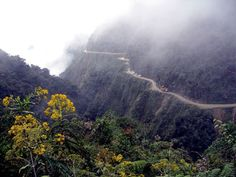 Los Yungas. One of the world's most dangerous roads. Yes I have traveled this road, very scary.