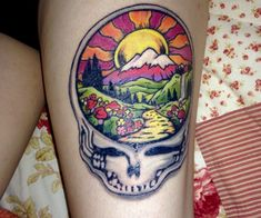 grateful dead steal your face right off your head first tattoo on shoulder blade 7 5 2012. Black Bedroom Furniture Sets. Home Design Ideas