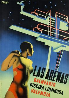Renau, Balneario 'Las Arenas' - piscina luminosa -, Valencia (Spain), ca. 1930