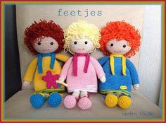 Feetjes gehaakt door Nicole patroon van Juffrouw Hutsekluts