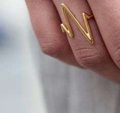 Sarah Chloe gold Plated heart.beat ring #goopget