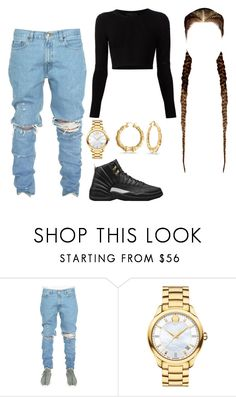 """Untitled #58"" by fxmous-maniiiii ❤ liked on Polyvore featuring Cushnie Et Ochs, Movado, Bling Jewelry and Retrò"