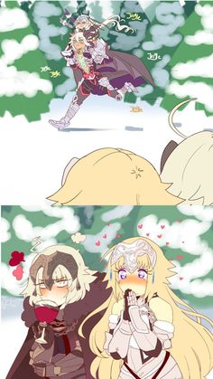 Jeanne and Jalter Comic Anime, Anime Comics, Anime Art, Fate Stay Night Series, Fate Stay Night Anime, Fate Characters, Accel World, Fate Servants, Fate Anime Series