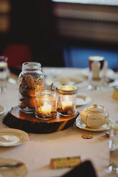 Rustic, Thrifted Wedding Decorations on a Budget. Photo taken by: redwallphotography.com