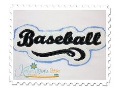 Baseball Distressed Applique - 3 Sizes! | Baseball | Machine Embroidery Designs | SWAKembroidery.com Katelyn's Kreative Stitches