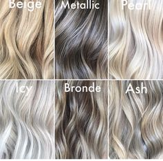 Which hair colour do you like the most? – Vicky Schwarz Which hair colour do you like the most? Which hair colour do you like the most? Icy Blonde, Blonde Color, Blonde Balayage, Pearl Blonde, Pearl Hair, Blonde To Grey Hair, Dying Hair Blonde, Bayalage, Which Hair Colour