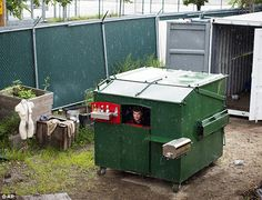 Gregory Kloehn, an artist and designer from California, has transformed a new dumpster into a small home, which is fully functional and can house 2 people.