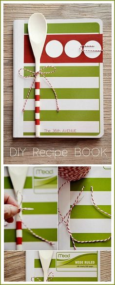 Recipe Book Tutorial... Such a cute handmade gift! Not only Christmas, but a great hostess or bridal shower gift too! Love!