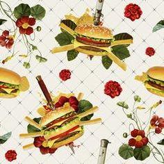 Cheeseburgers in Gangsta's Paradise | Removable Wallpaper | WallsNeedLove