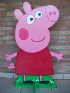 Cenário mdf - Peppa Pig   Art de Mão   39FCB4 - Elo7