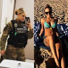 36 pics of beautiful girls with and without uniform will shock you. Check out sports girls, military girls, doctor etc. with uniform and without uniform giving hot posture. Gorgeous Women, Amazing Women, Beautiful Beautiful, Female Soldier, Female Marines, Army Soldier, Military Girl, Military Women, Girls Uniforms