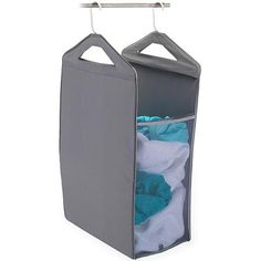 Hang this in the laundry closet and keep all the dirty clothes in there instead of a cluttering hamper! Love this idea! :)