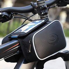 자전거 자전거 자전거 최고 프레임 전면 파니 튜브 가방 더블 파우치 홀더 산악 터치 스크린 자전거 액세서리