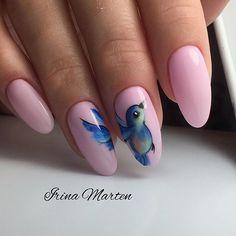 -nails- Acrylic Nail Shapes, Acrylic Nail Designs, Acrylic Nails, Water Color Nails, Animal Nail Art, Interesting Faces, Almond Nails, Hair Beauty, Nail Polish