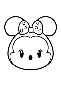 Minnie Mouse Tsum Tsum coloring pages printable and coloring book to print for free. Find more coloring pages online for kids and adults of Minnie Mouse Tsum Tsum coloring pages to print. Tsum Tsum Coloring Pages, Mickey Coloring Pages, Cute Coloring Pages, Printable Coloring Pages, Coloring Pages For Kids, Free Coloring, Coloring Books, Online Coloring, Kawaii Disney