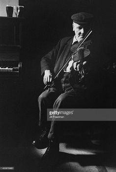 Irish folk fiddler John Doherty (1900 - 1980), Ireland, 1974.