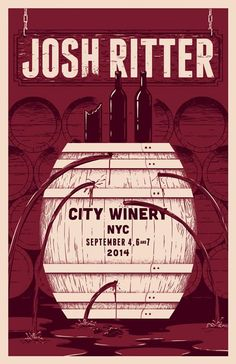 Josh Ritter poser for shows at @CityWineryNYC.