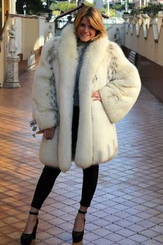 Fox Fur Coat, Fur Coats, Big And Beautiful, Vest, Furs, Jackets, Blue, Ebay, Fashion