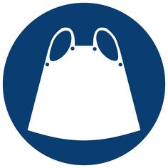 Apron Shall Be Worn (Mv symbolic safety sign Apron, Safety, Abs, African, Symbols, Signs, Stuff To Buy, Security Guard, Abdominal Muscles