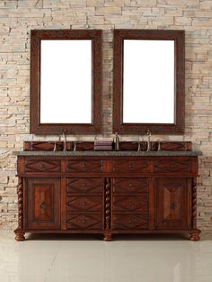 """James Martin 100-V72-BCH Continental 72"""" Double Vanity Cabinet (TOP NOT INCLUDED)"""