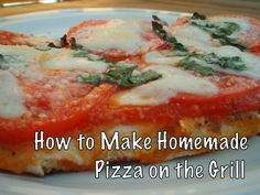 Homemade pizza on the grill