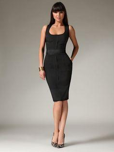 Stretch Jersey Shift Dress