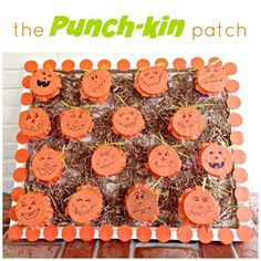 "DIY Halloween ""Punchkin Patch"" Punch Box - easy and fun for kids to ""punch"" for a prize!"