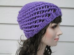 crochet hats knit hats crocheted beanie Beach Hat football game hat net fishing hat Classic Beanie purple hat Autumn Winter Fashion summer